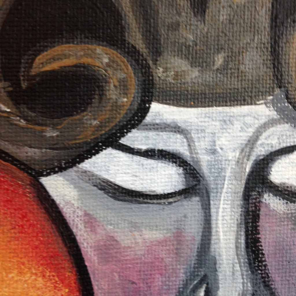 Close-Up 1 Demon in the Sun- Tribute to William Blake  Linda Cleary 2014 Acrylic on Canvas