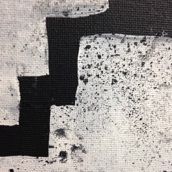 Close-Up 1 Perpetuate- Tribute to Eduardo Chillida Linda Cleary 2014 Acrylic on Canvas
