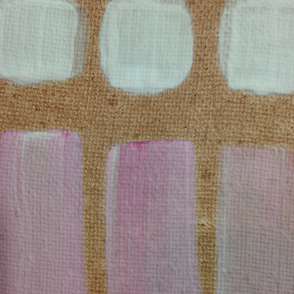 Close-Up 1 Frammenti Colorati- Tribute to Giorgio Griffa Linda Cleary 2014 Acrylic on Canvas