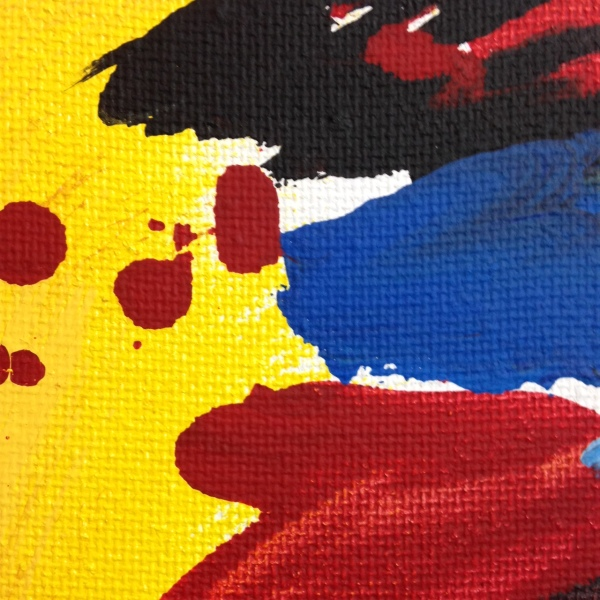 Close-Up 1 Rot und Blau Tanzen- Tribute to Josef Mikl Linda Cleary 2014 Acrylic on Canvas