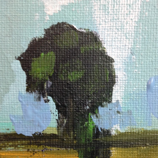 Close-Up 1 Lonely Tree- Tribute to Pamela Munger Linda Cleary 2014 Acrylic on Canvas