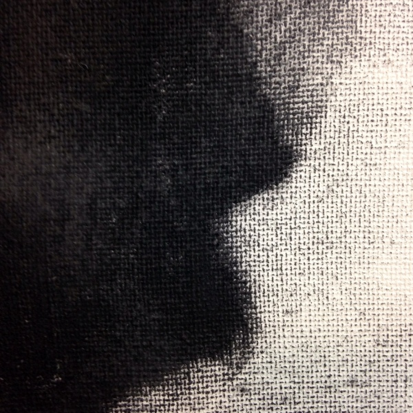 Close-Up 1 The Way Out- Tribute to Douglas A. Kinsey Linda Cleary 2014 Charcoal on Canvas