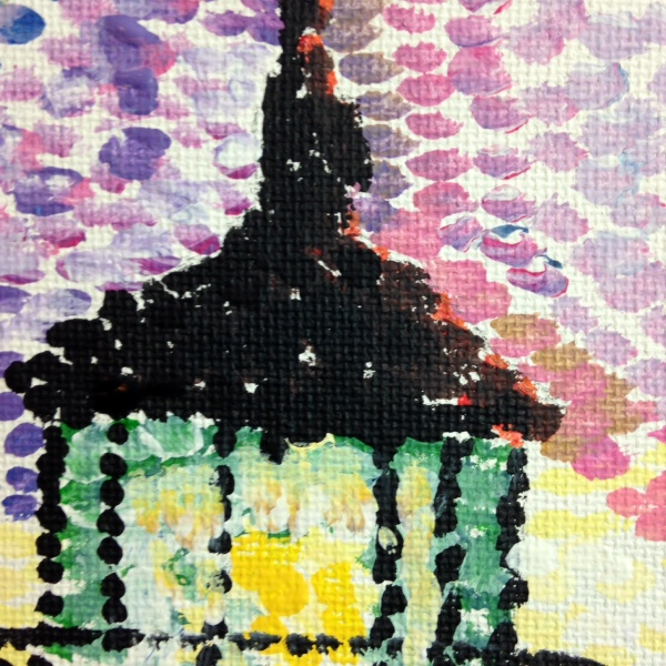 Close-Up 1 Phare Par La Mer- Tribute to Paul Signac Linda Cleary 2014 Acrylic on Canvas
