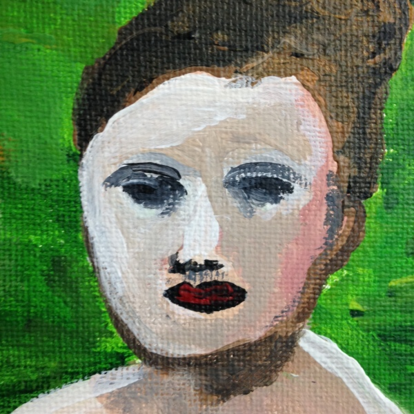 Close-Up 1 Saturday Morning Nude- Tribute to David Park Linda Cleary 2014 Acrylic on Canvas