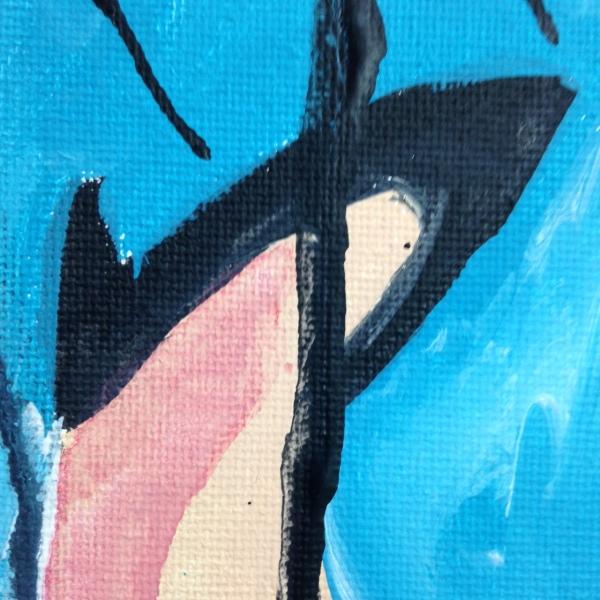Close-Up 2 Verkehrt Herum- Tribute to Georg Baselitz Linda Cleary 2014 Acrylic on Canvas