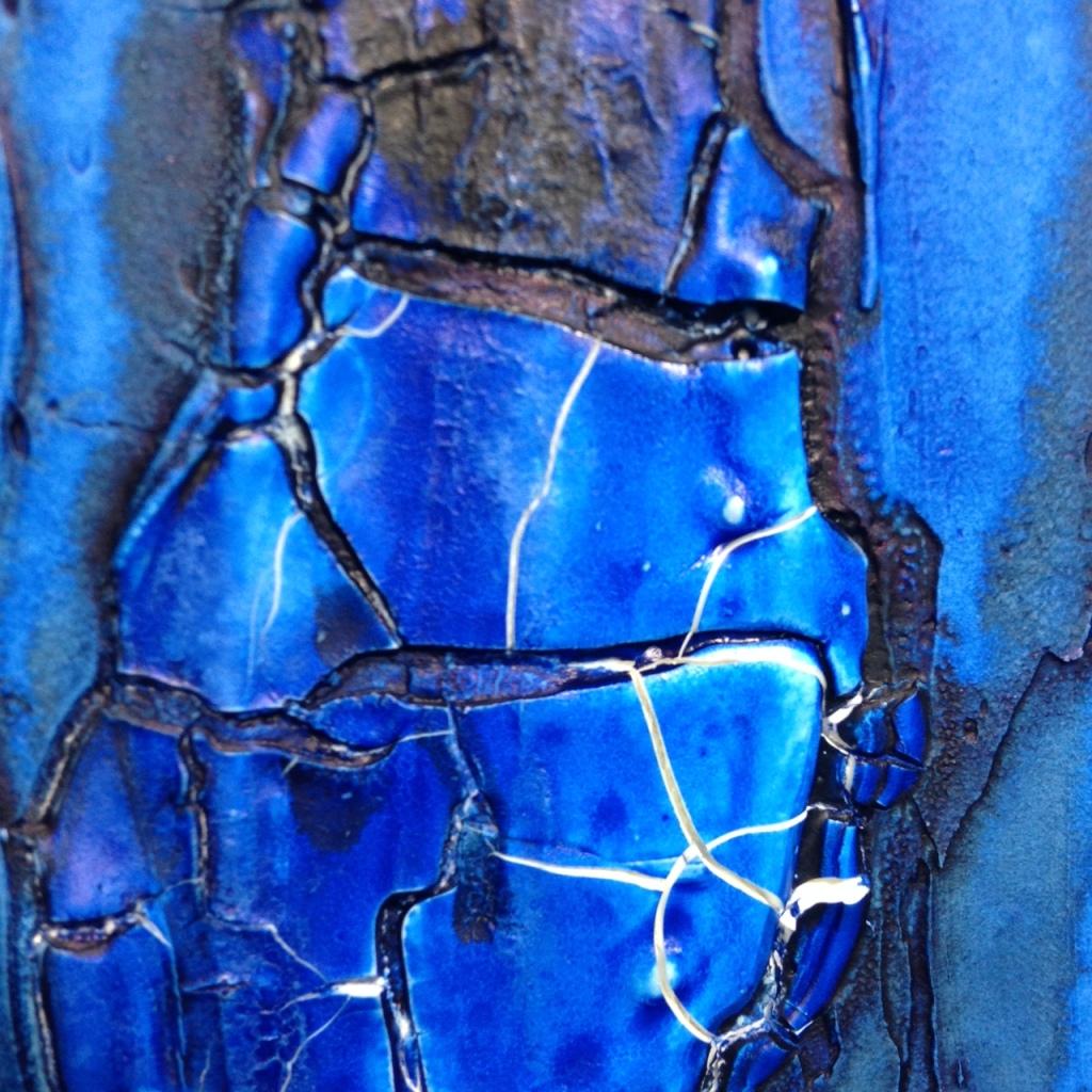 Close-Up 2 Blu e Nero- Tribute to Marcello Lo Guidice Linda Cleary 2014 Mixed Media on Canvas