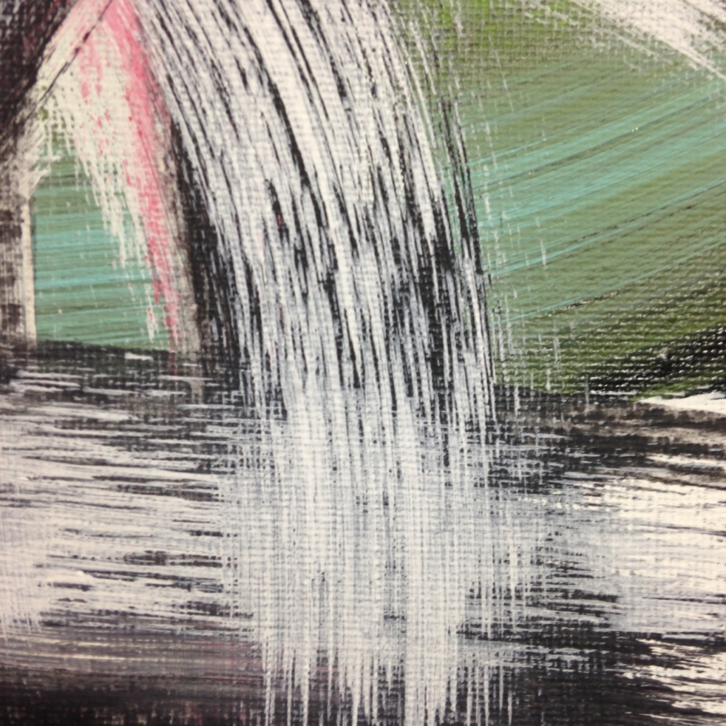 Close-Up 2 #257- Tribute to Hertha Hanson Linda Cleary 2014 Acrylic on Canvas