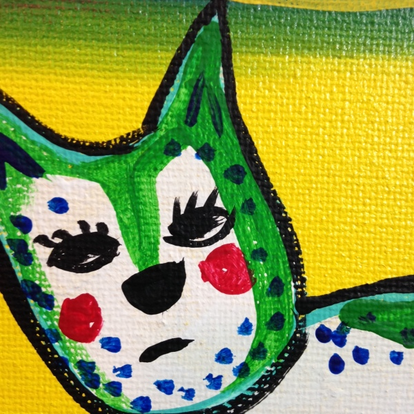 Close-Up 2 Brand New Day- Tribute to Corneille  Linda Cleary 2014 Acrylic on Canvas