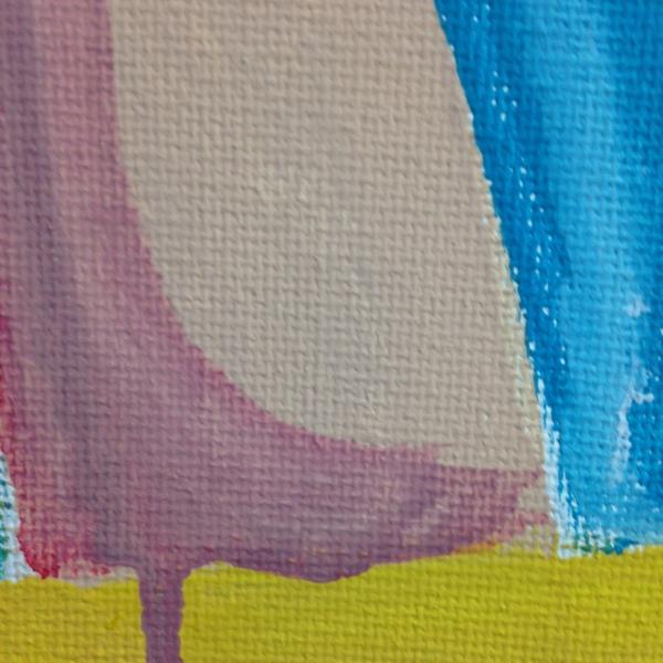 Close-Up 3 Verkehrt Herum- Tribute to Georg Baselitz Linda Cleary 2014 Acrylic on Canvas