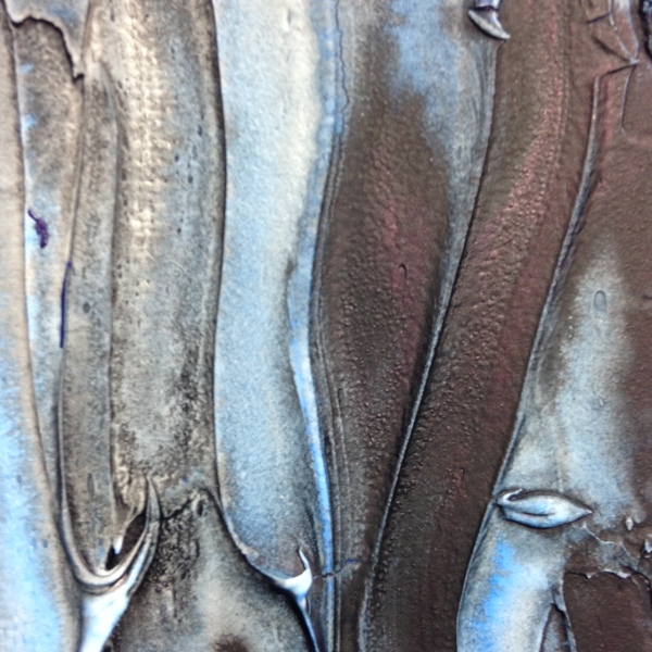 Close-Up 3 Blu e Nero- Tribute to Marcello Lo Guidice Linda Cleary 2014 Mixed Media on Canvas