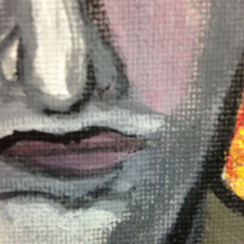 Close-Up 3 Demon in the Sun- Tribute to William Blake  Linda Cleary 2014 Acrylic on Canvas