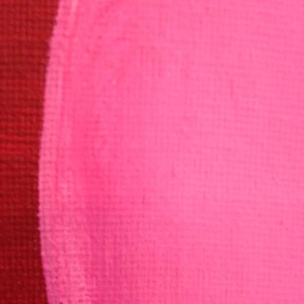 Close-Up 3 Rosa Kugel auf Rot mit gelben Streifen- Tribute to Rupprecht Geiger Linda Cleary 2014 Acrylic on Canvas