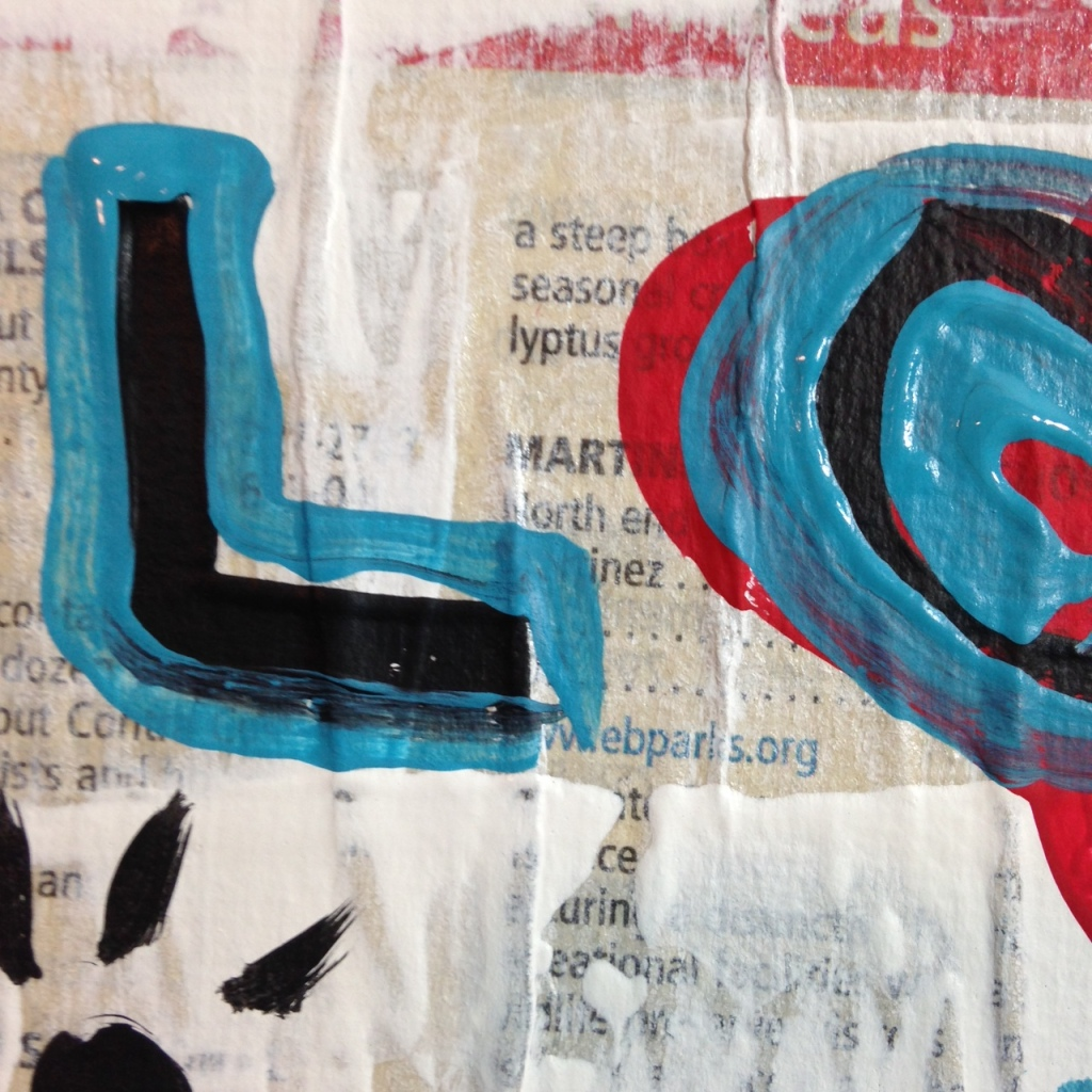 Close-Up 3 Love is Love- Tribute to Gary John Linda Cleary 2014 Mixed-Media on Canvas