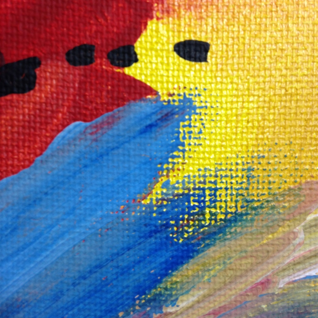 Close-Up 3 Rot und Blau Tanzen- Tribute to Josef Mikl Linda Cleary 2014 Acrylic on Canvas