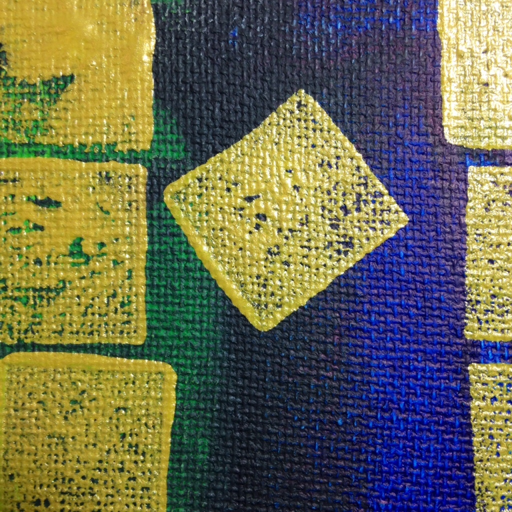 Close-Up 3 Golden Skies- Tribute to Makoto Fujimura Linda Cleary Acrylic on Canvas