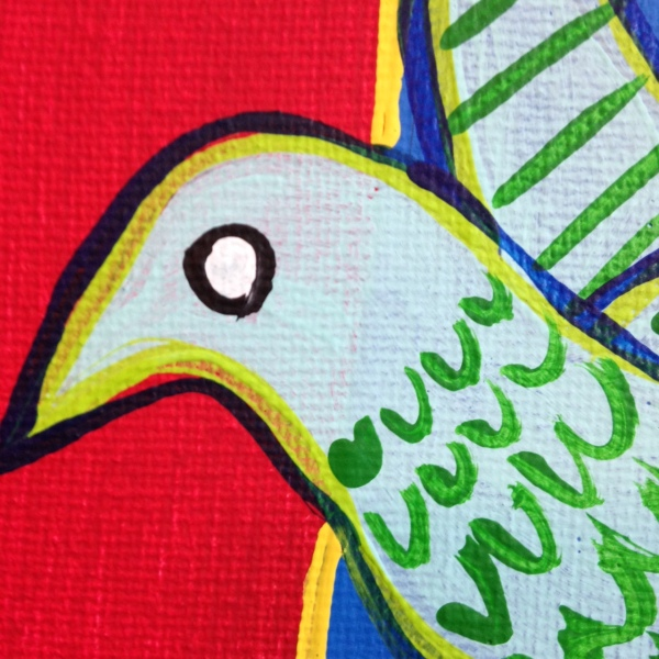 Close-Up 3 Brand New Day- Tribute to Corneille  Linda Cleary 2014 Acrylic on Canvas