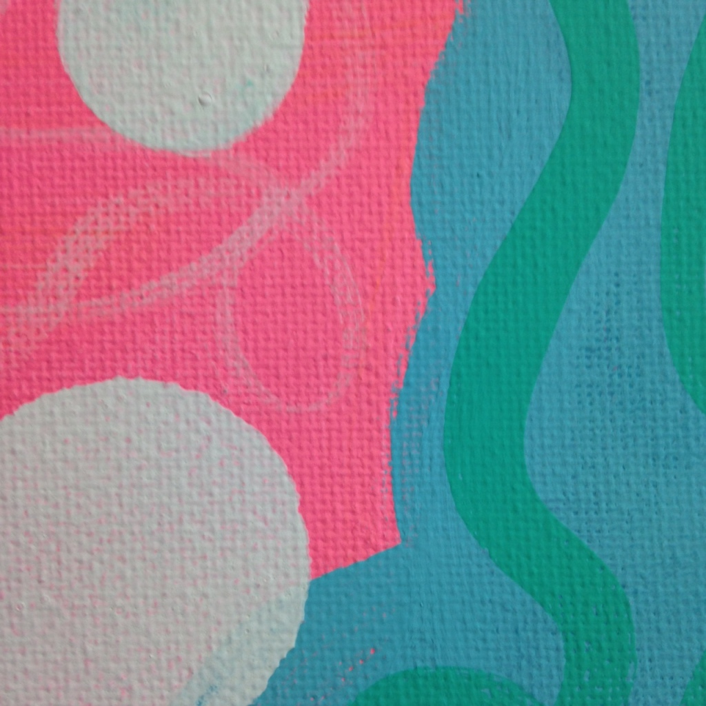 Close-Up 3 Colors Make Me Happy- Tribute to Hense Linda Cleary 2014 Acrylic on Canvas