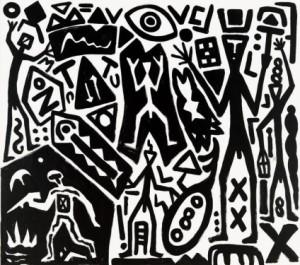 A.R. Penck Systembild—neue alte Welte, 2007