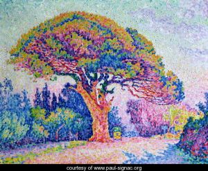 The Pine Tree at St. Tropez- Paul Signac