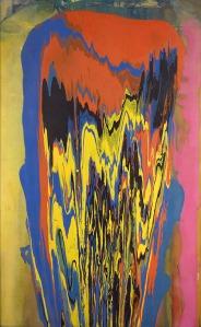 Frank Bowling- Tony's Anvil 1975, acrylic on canvas