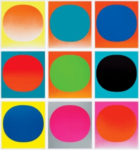 WVG 126 (Mappe Rupprecht Geiger – Colour in the round) (1969), portfolio of 9 silkscreens