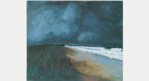 William Tillyer Beach and Sea, Seaton Carew, 1956