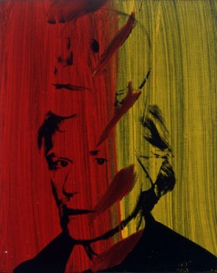 Self-Portrait with Skull- Andy Warhol