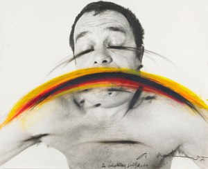 Arnulf Rainer- Black Yellow Red Mouth