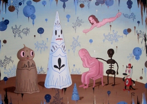 A Moment Ago Everything Was Beautiful Paintings- Gary Baseman