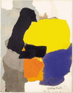 Collage with Yellow, Blue and Orange- Esteban Vicente