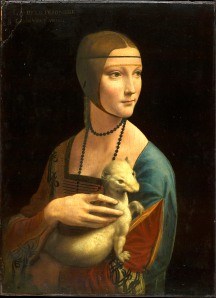 Portrait of Cecilia Gallerani (Lady with the Ermine), about 1488- Leonardo da Vinci