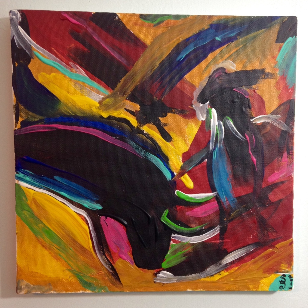 Matador- Tribute to Elaine de Kooning Linda Cleary 2014 Acrylic on Canvas