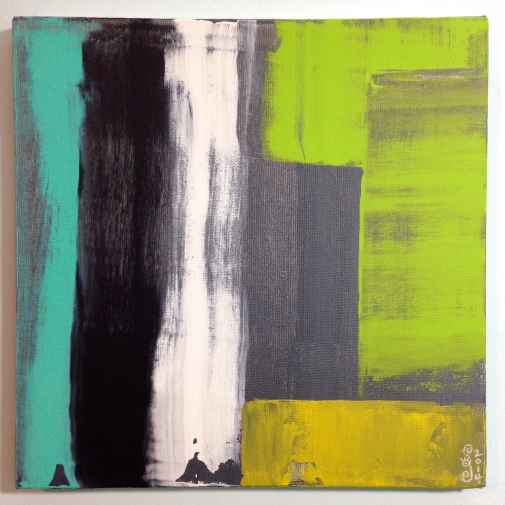 Rayas y Bloques- Tribute to Pedro Calapez Linda Cleary 2014 Acrylic on Canvas