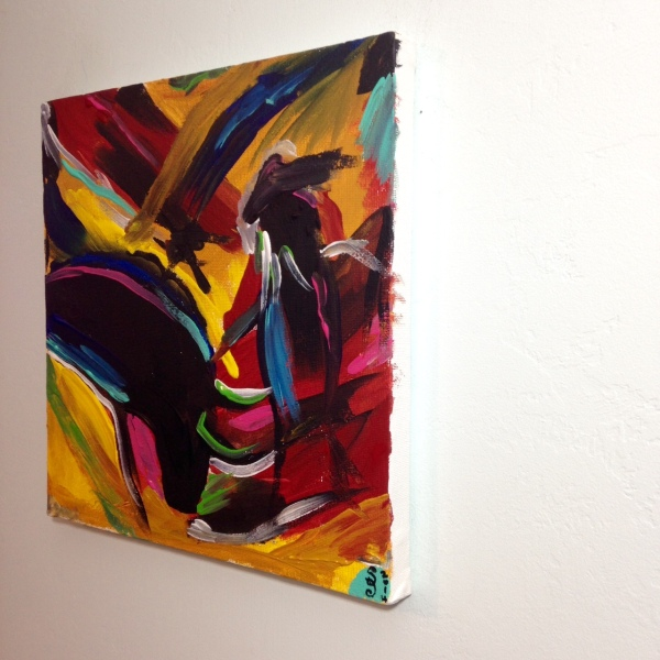 Side View Matador- Tribute to Elaine de Kooning Linda Cleary 2014 Acrylic on Canvas