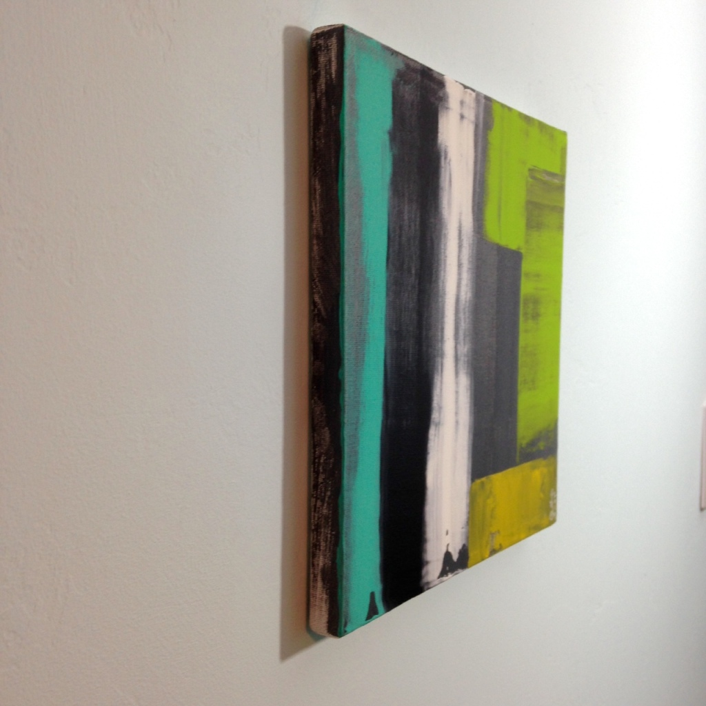 Side-View Rayas y Bloques- Tribute to Pedro Calapez Linda Cleary 2014 Acrylic on Canvas