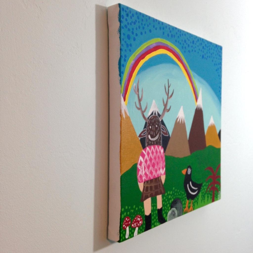 Side-View Nuevo Día- Tribute to Antonio Ballester Moreno Linda Cleary 2014 Acrylic on Canvas