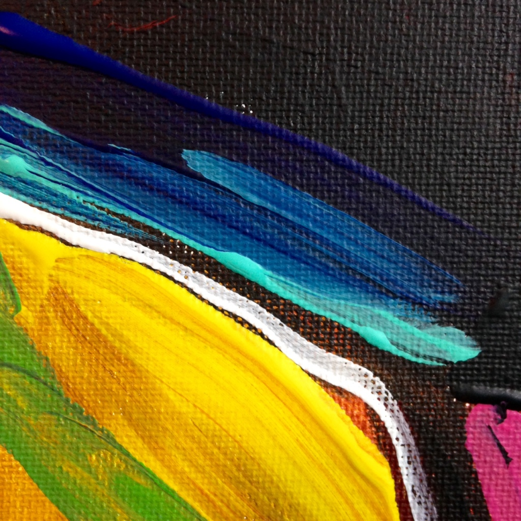Close-Up 1 Matador- Tribute to Elaine de Kooning Linda Cleary 2014 Acrylic on Canvas