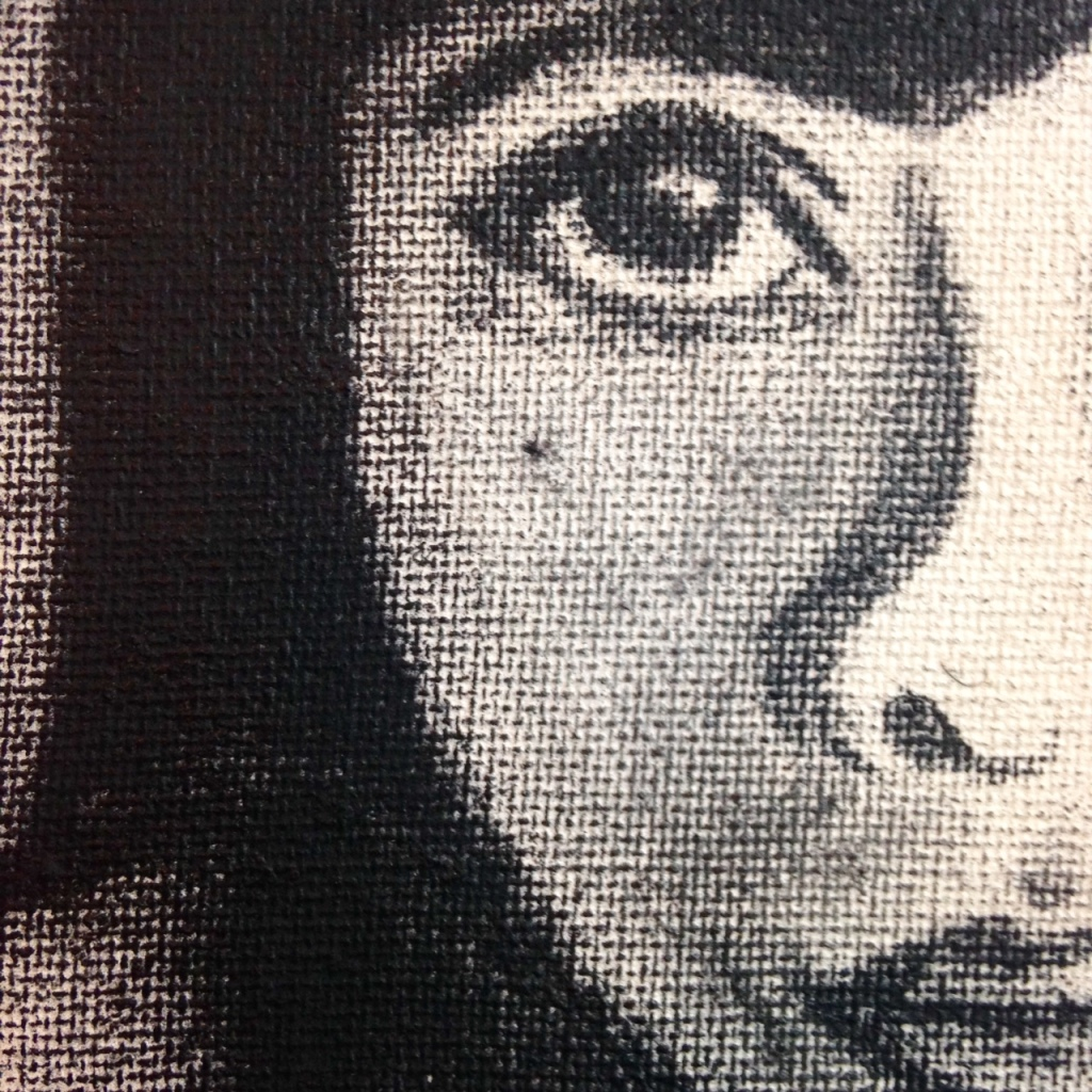 Close-Up 1 Self-Portrait- Tribute to Kathe Kollwitz Linda Cleary 2014 Stain & Charcoal on Canvas