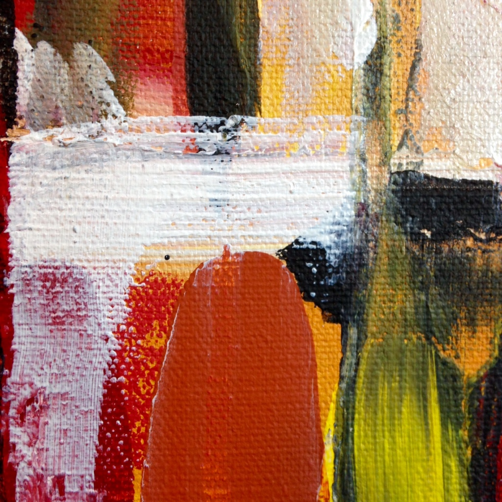 Close-Up 1 One Way- Tribute to Fritz Bultman Linda Cleary 2014 Acrylic on Canvas