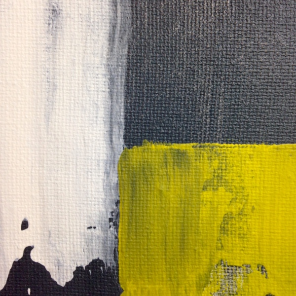 Close-Up 1 Rayas y Bloques- Tribute to Pedro Calapez Linda Cleary 2014 Acrylic on Canvas