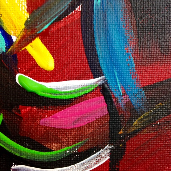Close-Up 2 Matador- Tribute to Elaine de Kooning Linda Cleary 2014 Acrylic on Canvas