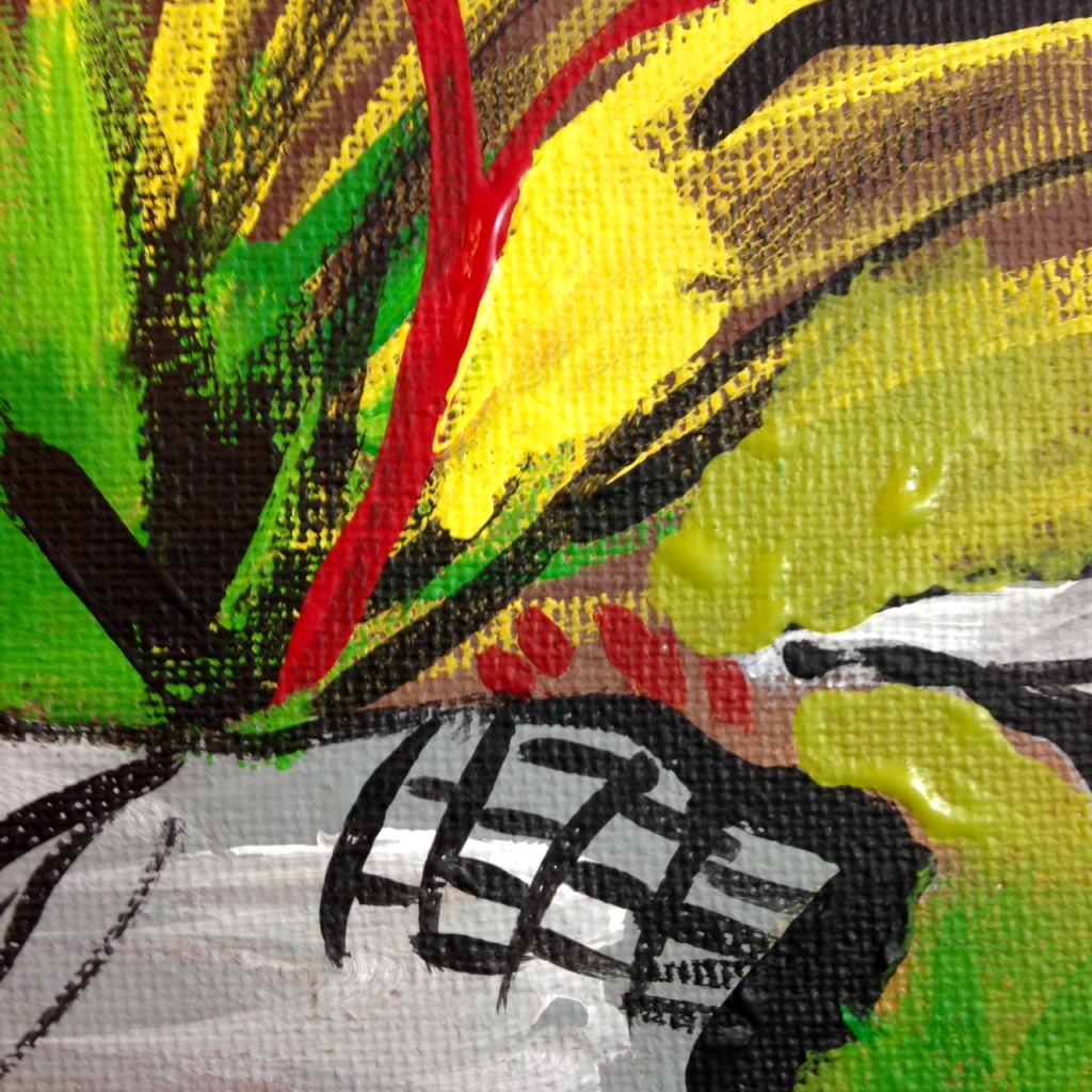 Close-Up 2 Klipper og Sprækker- Tribute to Per Kirkeby Linda Cleary 2014 Acrylic on Canvas