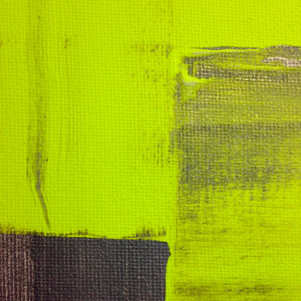 Close-Up 2 Rayas y Bloques- Tribute to Pedro Calapez Linda Cleary 2014 Acrylic on Canvas