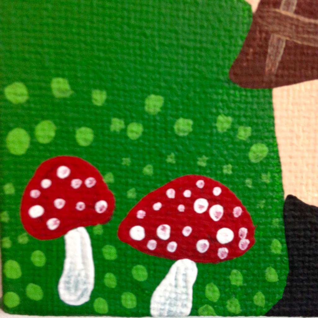 Close-Up 2 Nuevo Día- Tribute to Antonio Ballester Moreno Linda Cleary 2014 Acrylic on Canvas