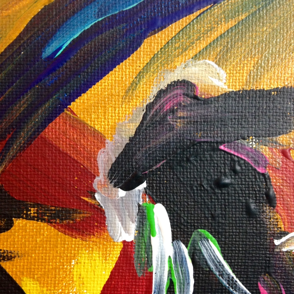 Close-Up 3 Matador- Tribute to Elaine de Kooning Linda Cleary 2014 Acrylic on Canvas