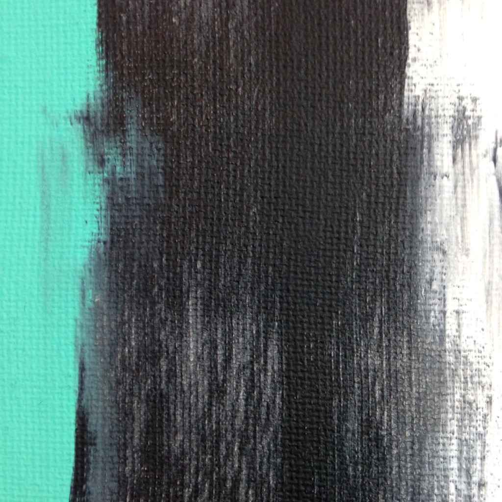 Close-Up 3 Rayas y Bloques- Tribute to Pedro Calapez Linda Cleary 2014 Acrylic on Canvas