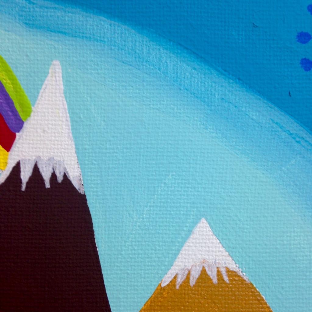 Close-Up 3 Nuevo Día- Tribute to Antonio Ballester Moreno Linda Cleary 2014 Acrylic on Canvas