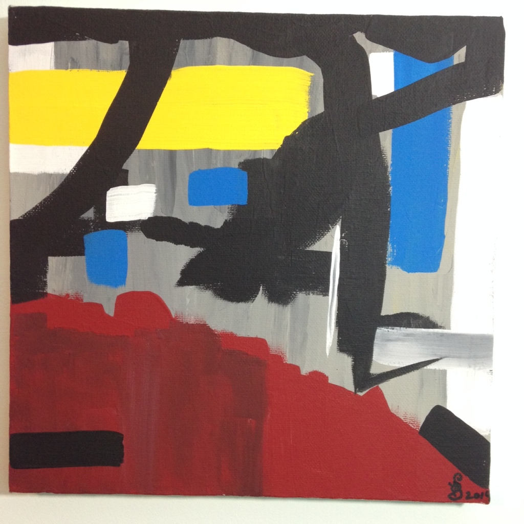 Yellow, Red, Blue- Tribute to Esteban Vicente Linda Cleary 2014 Acrylic on Canvas