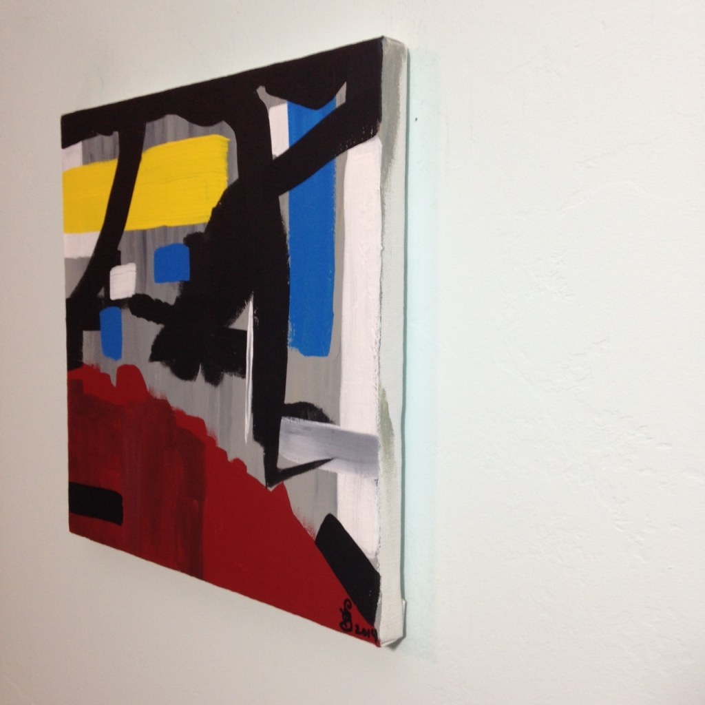 Side-View Yellow, Red, Blue- Tribute to Esteban Vicente Linda Cleary 2014 Acrylic on Canvas