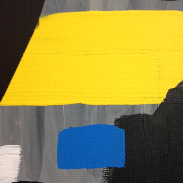 Close-Up 1 Yellow, Red, Blue- Tribute to Esteban Vicente Linda Cleary 2014 Acrylic on Canvas